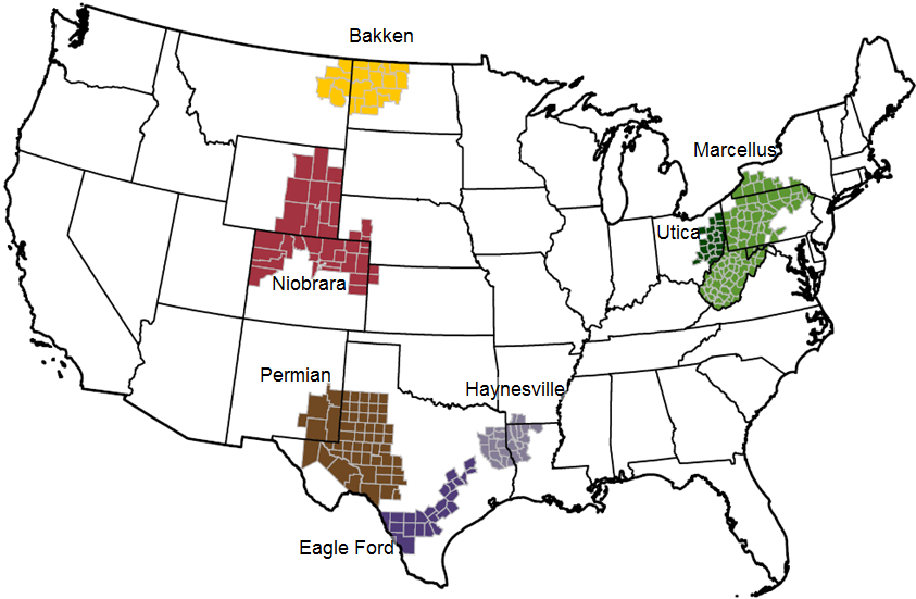 Most Prolific Shale Oil Sites