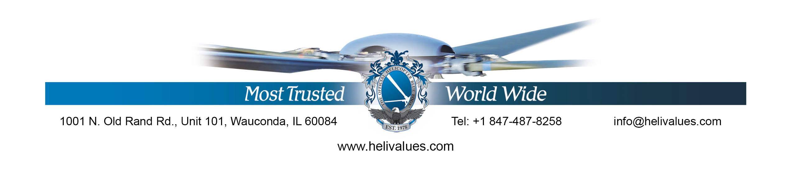 Why Choose HeliValues | The Official Helicopter Blue Book